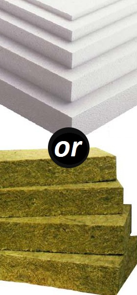 How to do thermal insulation: foam or mineral wool?